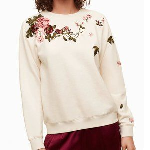 Little Moon Amaranth Floral Embroidered Sweater